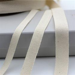 2.5cm の工場出荷時綿クリーム色のウェッビングバッグストラップ