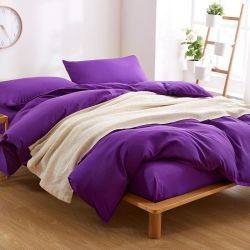 Couleur unie microfibre brossé Blanket couvrir drap de lit