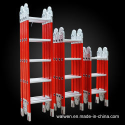 2.7m della scaletta unita multiuso di 8.7m ai tester FRP FRP/scaletta punto pieghevole della vetroresina