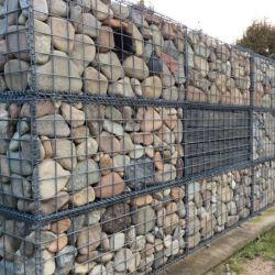 Valla de malla de alambre galvanizado decorativos Gabion Box para el muro de piedra