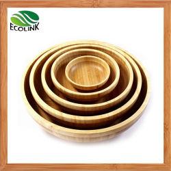 자연적인 대나무 사라다 그릇 과일 그릇 대나무 사발 세트