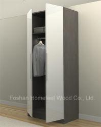 Chambre moderne personnalisé Meubles, Bois Vêtements penderie (HF-H01) -Blanc brillant UV