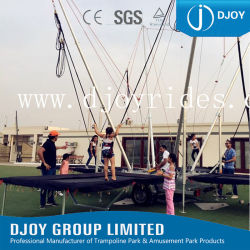 Equipamento de diversões temático emocionante, bungee jumping trampolim adequadas para adultos