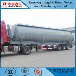 Utilisation du chariot hydraulique tombereau/arrière du vérin de benne basculante semi-remorque-citerne pour les pellets d'alimentation/du matériel d'alimentation