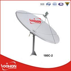 Bande C 6FT antenne satellite 180c-2 plat de TV