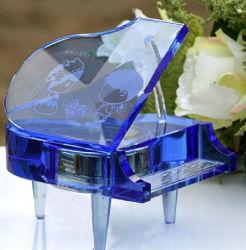 Optisches Purple Crystal Glass Piano für Souvenirs Gifts
