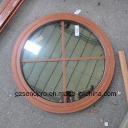 Diseño de la parrilla de doble cristal fijo aluminio ventana redonda