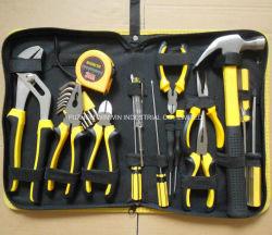 15pcs Kit de herramientas de la combinación de herramientas de mano con la bolsa de lienzo de embalaje (WW-TS15)