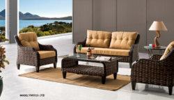 Сша горячей продавать первоклассный открытый бар дизайн пластика из ротанговой пальмы и удобный диван и бар плетеной мебели