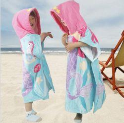 Commerce de gros coton Hoodie Kids bébé phoque à capuchon Serviette de plage