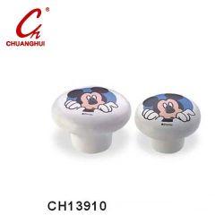 Charmant bouton céramique poignées avec Micky (CH13910)