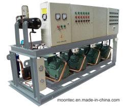 Apparatuur van de Compressor van de Koeling van de Zuiger van Bitzer Semi-Hermetic Industriële Commerciële met Lucht of Water Gekoelde Condenserende Eenheid