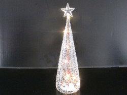 Рождество дерева из стекла со светодиодной лампы внутри