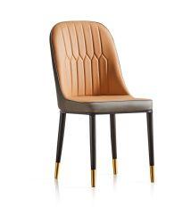 Großhandel Modern Home Abendessen furmiture Metall Beine PU Leder Dining Stühle