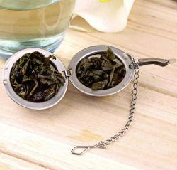 Acero inoxidable 304 Tea Infuser Colador de té El té de la bola de malla del filtro a base de hierbas especias asa plegable