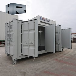 20FTの特別な目的の容器の側面の開放された記憶の輸送箱