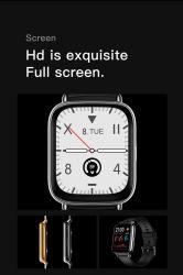 Um68 Smartwatch Femmes 1,69 pouces grand écran 24 Modes Sport 100+ regarder les visages Smart Watch hommes Android Imperméable IP68
