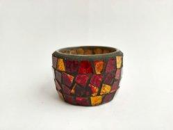 جودة جيدة نقد جديد ديكور Vintage الزجاج الملوّن Mosaic صوت فوتيف ضوء الشاي حامل شمعة لحامل حلوى الزخرفي لعيد الميلاد الديكور