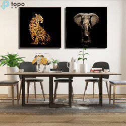 H800mm*800mm 3D animal éléphant Zebra Leopard célèbre peinture d'art (MR-YB6-203789)