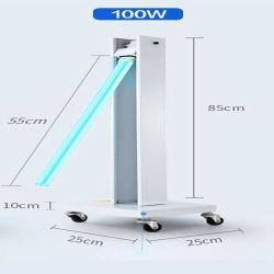 verwendete bewegliche mobile UVC keimtötende ultraviolette entkeimenUVC Innenlampe der Energien-100W des licht-LED mit Rad-Laufkatze