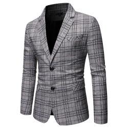 남성용 캐주얼 격자무늬 양복 싱글 브레스트에 싱글 브레스트에
