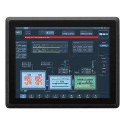 """El apoyo 9-36V 15 """" Monitor LCD táctil 3558U todo en uno Fanless PC Industrial mini ordenador de escritorio"""