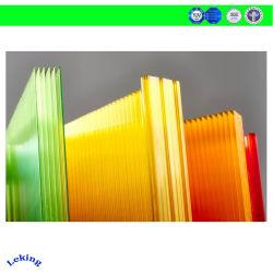 De lage Kosten plooiden Holle UVPC- Bladen/het Duidelijke Stevige Polycarbonaat van Bladen Lexan voor de Luifels van /Skylighting/Awning van het Dakwerk/Luifel