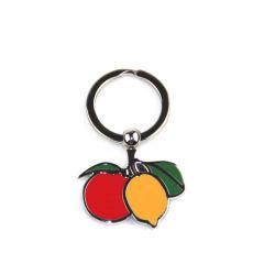 Precioso regalo fruto de Metal Llavero personalizadas de forma