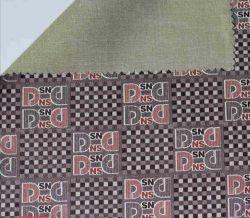 Tessuto appoggiando il tessuto di cuoio stampato fiore sottile di 0.4mm per la fabbricazione dei vestiti