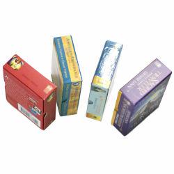 Пользовательское поле печати для карточных игр мало подарочная упаковка жесткой верхней части нижней части окна с большим отверстием для бумаги .