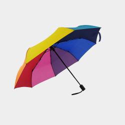 Ombrello di volta del Rainbow tre su ordinazione variopinti di colore della prova del vento