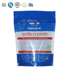 Plástico de impresión personalizados bolsas de embalaje para el cuidado personal de la bolsa Ziplock Levántate de sal de baño