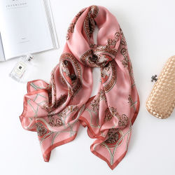 Le sciarpe di seta lunghe della doppia stampa laterale, la sciarpa di seta, lo scialle di seta, sciarpe di seta della stampa di Digtal, iniettano la sciarpa della seta della stampa