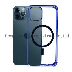 자성 휴대폰 케이스 Huawei용 Xiaomi 실리콘 iPhone 8/P/X/12 독특한 방수 전화 케이스 로고