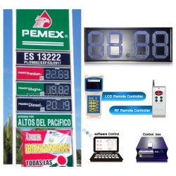 멕시코 실외 LED 가스 가격 디지털 표지판 LED 가스 스테이션 가격 표시