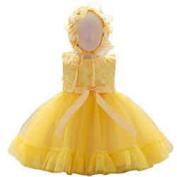 2021 신생아용 웨스턴유아웨어 여아용 의복 볼 가운 프린세스 프록 레이스 스위트 드레스