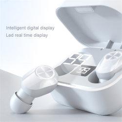 ワイヤレスヘッドセット Bluetooth V5.0 TWS ワイヤレス Bluetooth Eaphone LED ライト マイク付きクールヘッドフォン付き
