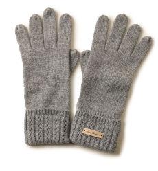 灰色の卸し売り方法100%高品質の冬の暖かい編まれたカシミヤ織の手袋