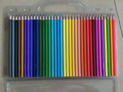 36PCS 색상 연필 - 플라스틱 핸드박스