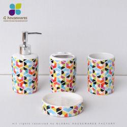 Conjunto de acessórios de banho em cerâmica de moda para decoração
