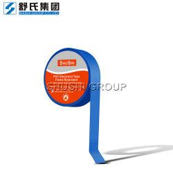 Fita de vinil azul fita elétrica de isolamento de retardantes de chama a superfície brilhante