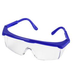 세륨 En166 & 물자 ANSI Z87.1+ PC는 조정가능한 다리 명확한 산업 Eyewear 방어적인 안전 유리를 반대로 긁는다