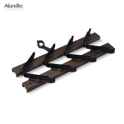 سعر المصنع أسود 4 بوصة 19 مم ألومنيوم مقبض الخشب شفرات بإطار اللوفر