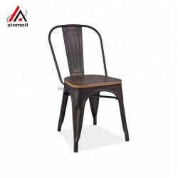 Café Noir métal bon marché des chaises et de bois d'administration