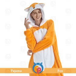 Fox Onesie - Fox Tricô fantástica Jumpsuit personalizado para homens e mulheres - Kigurumi trajes de jumper