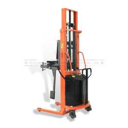 Rotation hydraulique et électrique du tambour de serrage empileur yl350