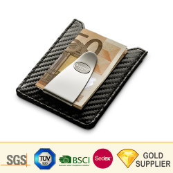 High Quality Personal Blank Metal Titanium Carbon Fiber Gold Silver Photo Skull Roestvrij Staal Masonic Coin Magnetic Luxury Mens Custom Wallet Money Clip
