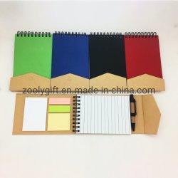 Gewundene Kraftpapier-harte Deckel-Farben-klebrige Anmerkungs-Büro-Protokoll-Auflagen mit Magnet-Schliessen anpassen
