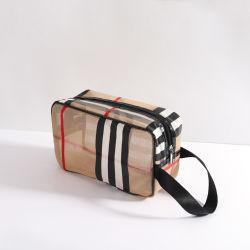 عرض التخفيضات على أسعار Stripe Waterproof Cosmic Bag للسفر تخزين مجموعة الحقائب مع مقبض PU