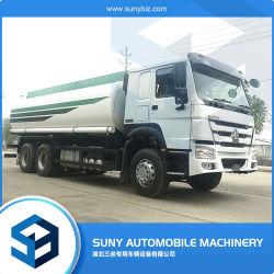 precio de fábrica de aceite de reabastecimiento de combustible Gasolina Diesel cisterna de transporte de carga de 20000L Sinotruk camiones HOWO 6X4 camiones tanque de gasolina con dispensador